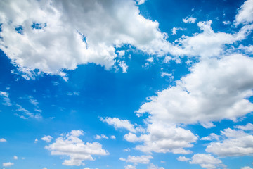 Clear blue sky with cloudy as a background wallpaper, pastel sky wallpaper
