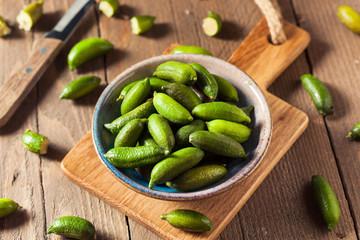 Raw Organic Green Finger Limes