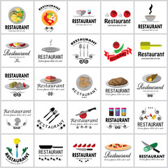 Restaurant Icons Set: Vector Illustration, Graphic Design. Collection Of Colorful Icons. For Web, Websites, Print, Presentation Templates, Mobile Applications And Promotional Materials