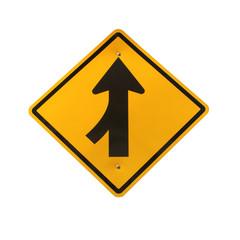 Lanes merging left traffic sign