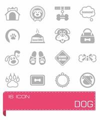 Vector Dog icon set
