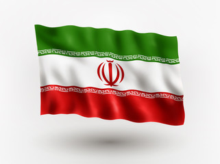 Flag of Iran.
