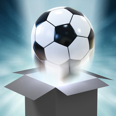 soccer ball blowing out of magic box