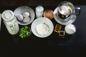Cooking Tiramisu ingredients dish