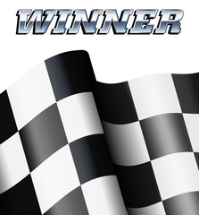 WINNER Checkered, Chequered Flag Motor Racing
