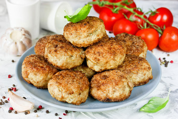 Fried meatballs, homemade cutlet of minced meat