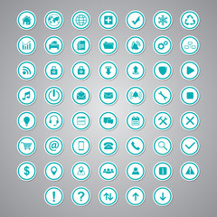 sticker icon set circle