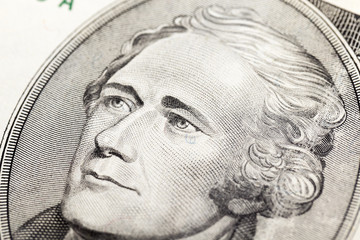 American dollars, close-up