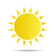 Yellow Sun burst icon