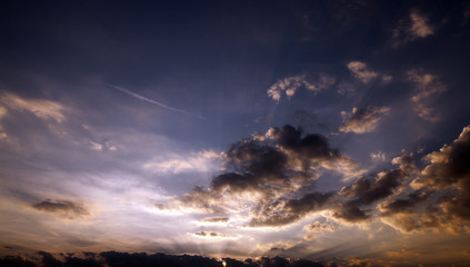 the sky during sunset