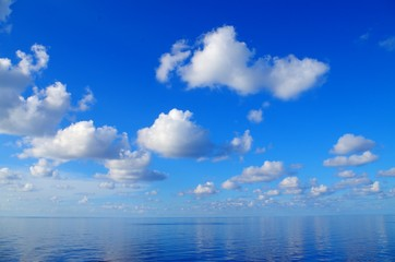 White Clouds, Blue Sea