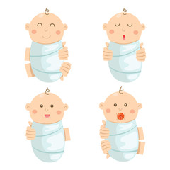 Illustration of baby cute