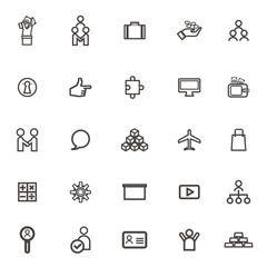 vector Business icons, management and human resources. More icon
