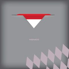 Banner with stylized Monaco flag