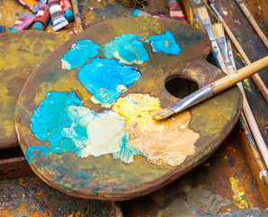 old  palette artist's