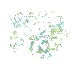 Watercolor splash patch on white background. Watercolor abstract stroke.