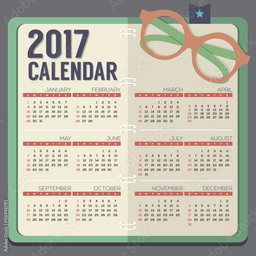 Calendar Notebook Design : Quot flat design eyeglasses on notebook printable