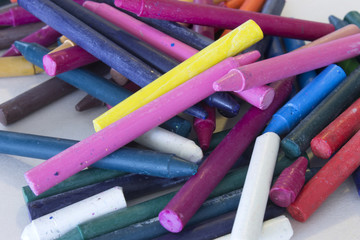 This is a photograph of colorful crayons background