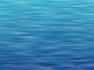 Blue water with waves. Sea or ocean surface. Vector background.