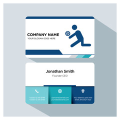 Business card template. Volleyball icon