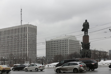 The Lenin monument