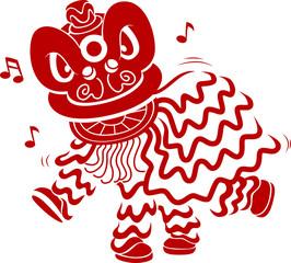 Lion Dance Stencil