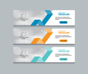 abstract web banner design  template.three color