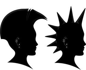 Profile Silhouette Mohawk