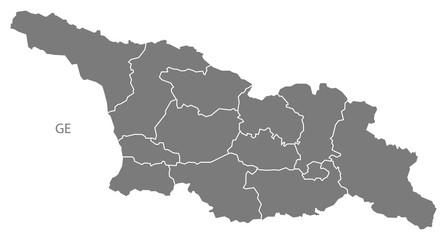 Georgia provinces Map grey