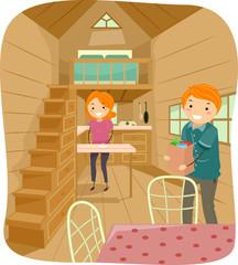 Stickman Couple Tiny House