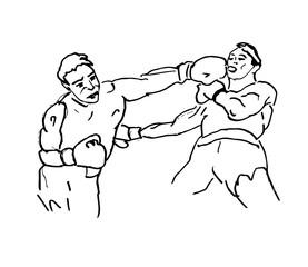 Boxing fight illustration