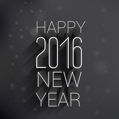 happy new year design in dark style