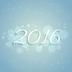 2016 new year design in light blue background