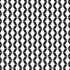 Seamless Geometric Zig Zag Pattern in Black and White
