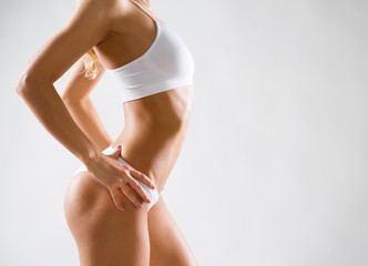 Beautiful slim body of a woman
