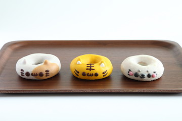 Colorful Animal Doughnuts for kids (Cat, Tiger, Seal)