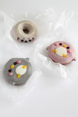 Colorful Animal Doughnuts for kids (Penguin, Seal)