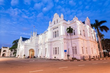 Old Heritage British Colonel Building used for current Penang Local Council in Esplanade, George Town, Penang, Malaysia