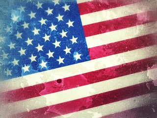 American flag grunge background, election year usa