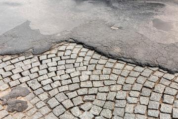 Straße Reparatur Baustelle