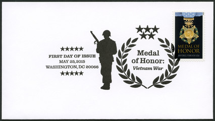 USA - 2015: shows Medal of Honor Vietnam War the Air Force