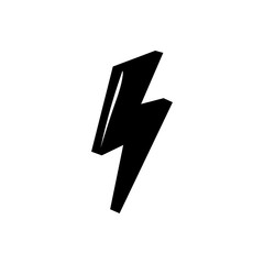 lightning symbol of retro style