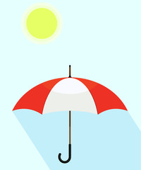 Umbrella protection from sun