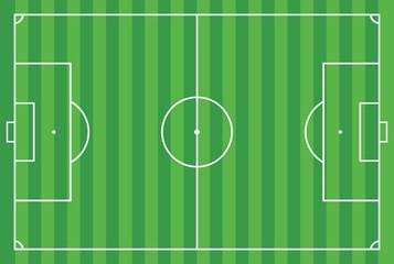 Soccer field or football field , EPS 10 Vector