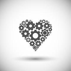cogwheel heart icon