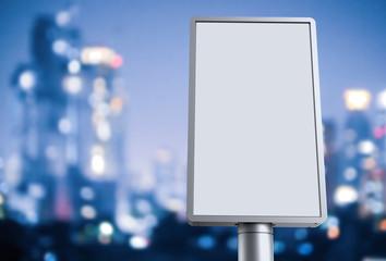 blank light box in city