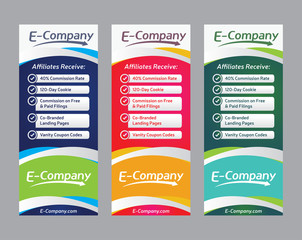 Set of web banners, Vector template