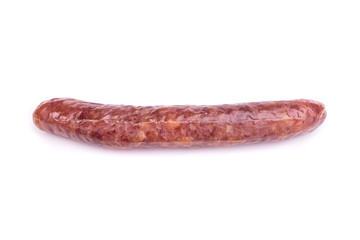 Chinese sausages isolated on white background