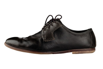 Old and elegant black shoe