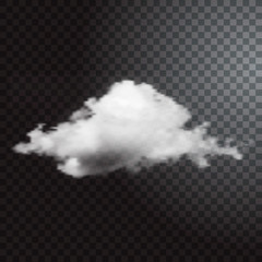 Realistic cloud on transparent background.